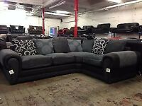 **BLACK AND GREY CORNER SOFA** ( NOT ONE IN PICTURE BUT AS NEAR TO AS POSSIBLE)