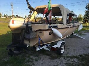 One of a Kind 17 foot Family or Fishing boat