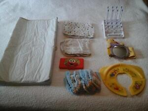 Gently used change pad and baby essentials
