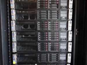 HP DL380p DL380 G8 Enterprise Server 16-Cores 384GB-Memory 8X900GB-SAS P420/1GB/RAID 2PSU RACK-RAILS