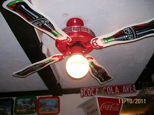 Ventilateur coca cola / coke ceilling fan
