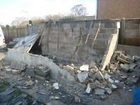 Demolition and concrete rubble removal. Rubbish junk garden waste metal wood cardboard furniture