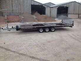 BRIAN JAMES 16ft TRI AXLE CAR TRANSPORTER TRAILER FOR HIRE