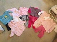 3-6 month Baby girl Autumn winter clothing bundle