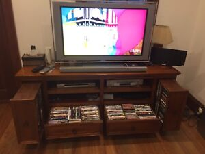 Solid timber entertainment TV unit Surry Hills Inner Sydney Preview