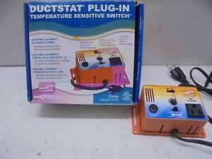 Ductstat plug in thermostat temperature sensitive switch