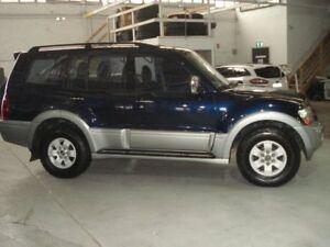 2003 Mitsubishi Pajero NP Exceed Blue 5 Speed Sports Automatic Wagon