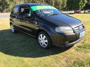 2007 Holden Barina TK MY07 Black 4 Speed Automatic Hatchback Clontarf Redcliffe Area Preview