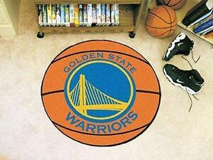 NBA - Basketball Mat 27 Inch Diameter Durable Floor Protector Non Skid Rug Mat (Golden State Warriors)