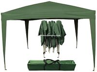 Gazebo green pop up design.