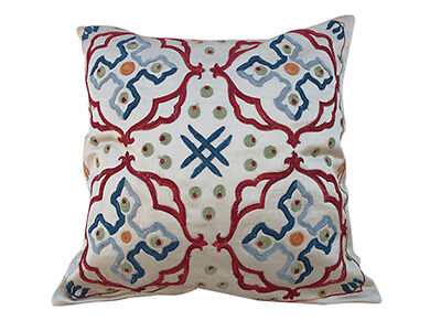 Silk Turkish Embroidered Pillow