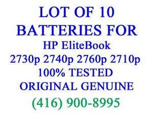 LOT OF 10 x GENUINE HP Battery for EliteBook 2730p 2740p 2760p 2710p Series Laptop Batteries Original