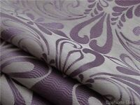 Beautiful Laura Ashley Purple Fitzroy custom made curtains and Curtain Pole