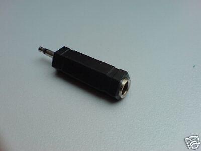 25 Stück Adapter 6,3mm Kupplung auf 3,5mm Stecker  mono