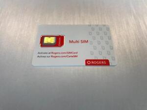 Rogers Multi Sim Card - UNACTIVATED - BRAND NEW