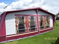 Dorema Caravan Awning . All Season heavy duty quality awning material for sale due change of Caravan