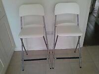 Foldable bar stools ( 2 for 30£) Ikea