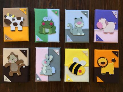 Childrens Wall Art - 8 Animal Pictures