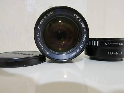Canon FL 58mm f 1.2 Lens / Sone E or M4/3 mount adapter