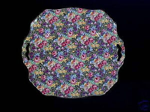1930s Royal Winton Hazel Chintz Cake Plate