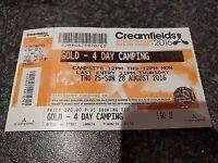 1x gold creamfields ticket