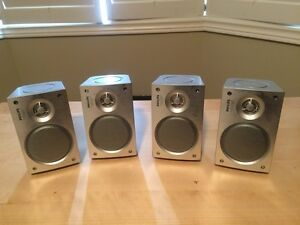 4pc Philips Advanced 2-Way Satellite / Bookshelf Speakers