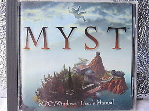 Myst Windows 3.1 with User Manual PC game-mint condition +