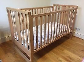 Cot / Cot Bed Beech Mothercare