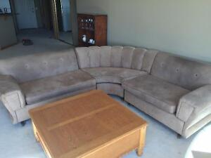 Cool Eclectic 1940's 3-Piece Sectional Sofa
