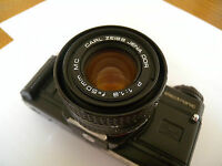 rare jenaflex 35mm slr with carl zeiss 50mm lens
