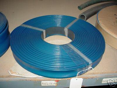 Blue Pvc Lay Flat Discharge Hose 2 Id X 100