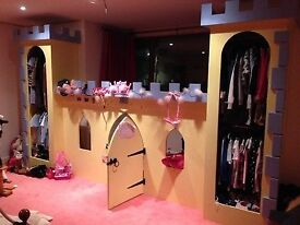 Girls Princess Castle and Wardrobes