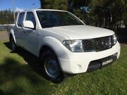 2013 Nissan Navara D40 MY12 RX (4x2) White 6 Speed Manual Dual Cab Pick-up Homebush West Strathfield Area Preview
