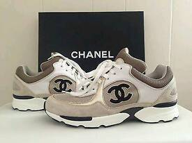 LEATHER AND SUEDE CHANEL TRAINERS AVALIABLE HERE