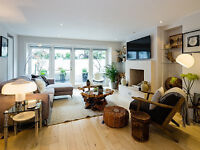 exceptionally decorated 2 bed