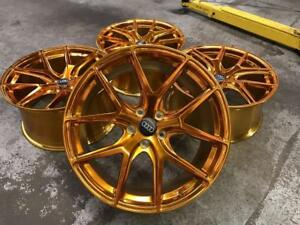 19 Staggered Polished Gold Wheels 5x112 (Audi, Mercedes and Volkswagen) Calgary Alberta Preview