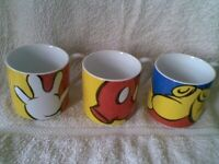 Full Set of 3 Collectable Disney Mugs