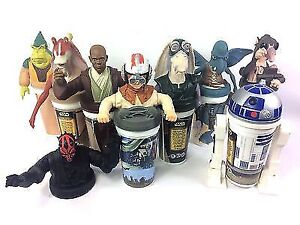 STAR WARS Vintage Collectible Cups Darth Maul Yoda Anakin Windu