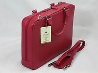 Leather iPad,Mini Laptop or Notebook Bag/Case/Briefcase by Laurige - Red