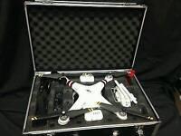 DJI Phantom 3 Professional 4k Camera Drone w Many Extras