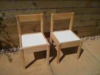 For Sale - 2 x Ikea Latt children's Chairs (£5.00 for the pair)