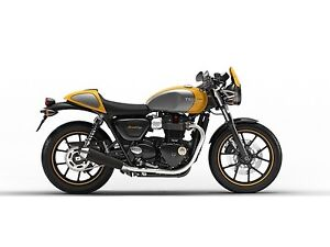 2018 Triumph Street Cup Racing Yellow / Silver Ice
