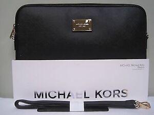 "Michael Kors black leather laptop sleeve - 13"" MacBook Pro"