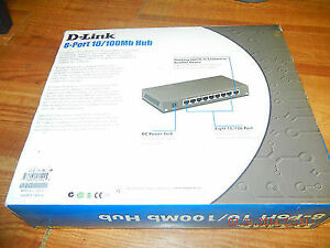 D-Link DSH-8  8 port 10/100 Dual Speed Hub with Switch