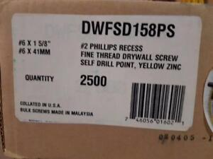 "Quik Drive #6 X 1-5/8"" self-drilling screw DWFSD158PS"