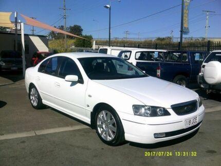 2003 Ford Fairmont BA Ghia White 4 Speed Auto Seq Sportshift Sedan Coopers Plains Brisbane South West Preview