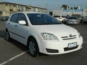 2004 Toyota Corolla ZZE122R Ascent Seca White 4 Speed Automatic Hatchback Maidstone Maribyrnong Area Preview