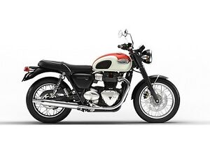 2018 Triumph Bonneville T100 New England White/Intense Orange