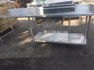 Commercial heavy duty stainless steel table with drawer