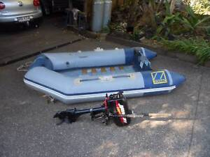 2.4m zodiac inflatable and motot Mount Glorious Brisbane North West Preview